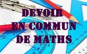 Devoir en commun de maths