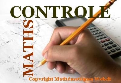 Contrôle de maths.