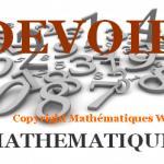 Les fonctions : contrôle de maths en première S