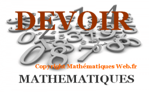 Devoir de maths.
