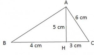 Hauteur d'un triangle