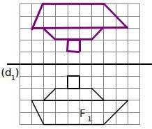 Corrigé des exercices sur la symétrie axiale en 6ème.