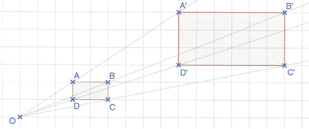homothétie d'un rectangle