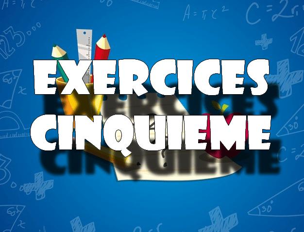 exercices maths 5eme