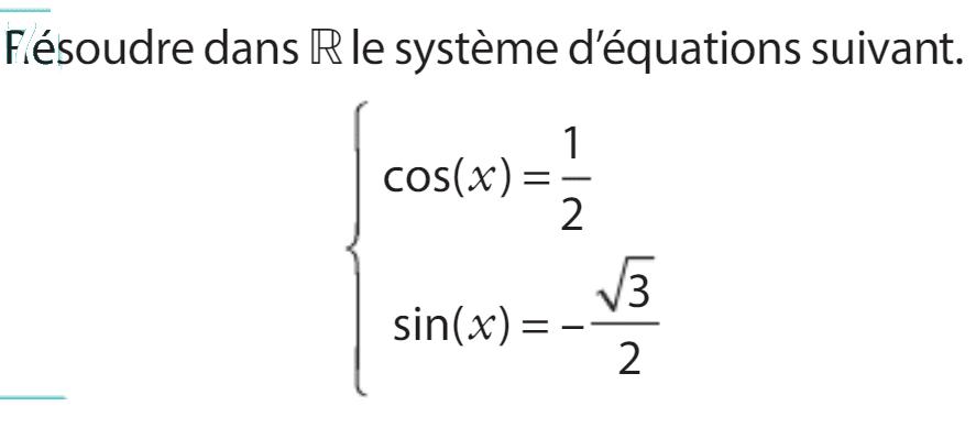 exercices trigonométrie 1ère 12