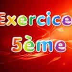 Proportionnalité : Exercices Maths 5ème corrigés en PDF en cinquième.